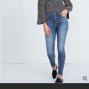 Madewell Chewed Hem High Rise Jeans